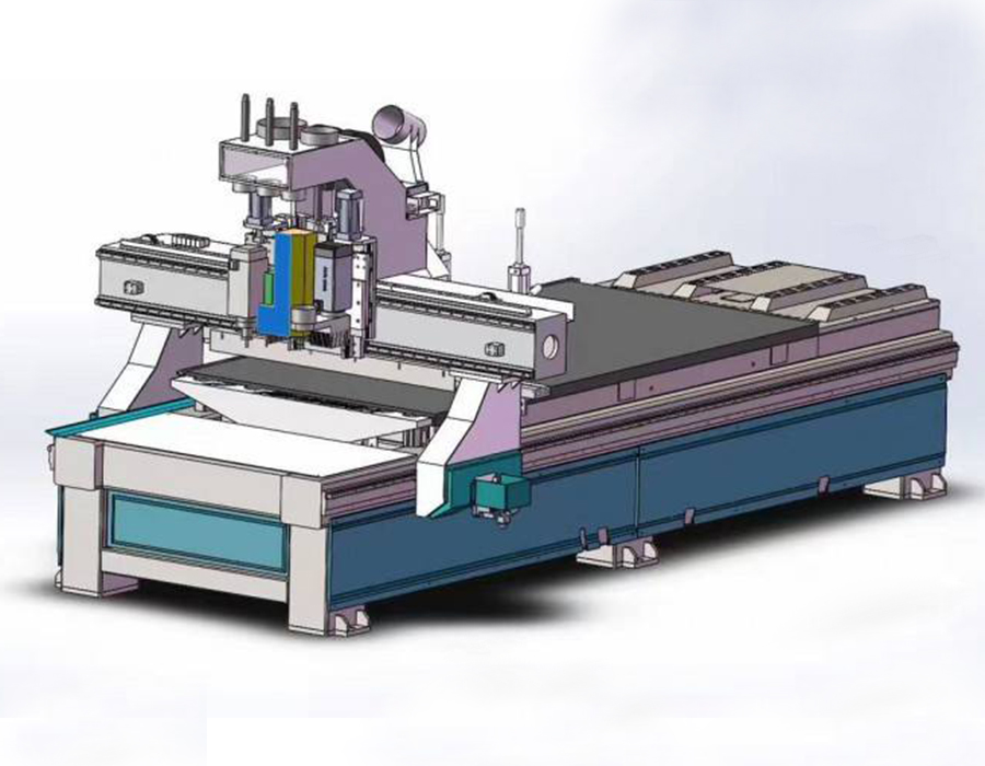 What are the basic components of the CNC cutting machine?